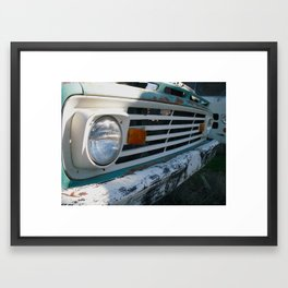 Rusty Ford Grille Framed Art Print