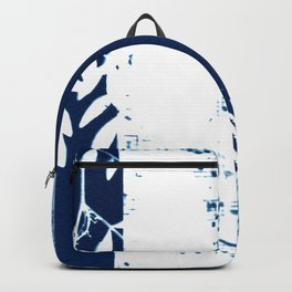 Fragments of the Past (26), art print, collage, blue print, cyanotype print, wall art, wall decor Backpack