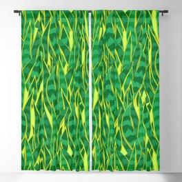 Snake Plant Jungle Pattern Blackout Curtain