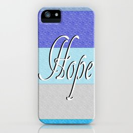 HOPE on Blue iPhone Case