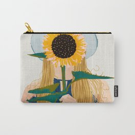 Miss Sunflower || Carry-All Pouch