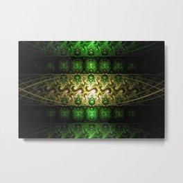 fractal art digital blue Metal Print
