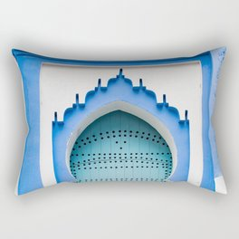 Doors - Chefchaouen, Morocco Rectangular Pillow