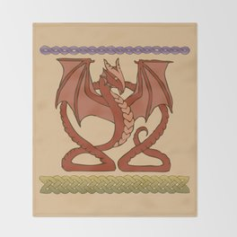 Red Dragons Throw Blanket