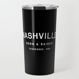 Nashville - TN, USA (Black Arc) Travel Mug