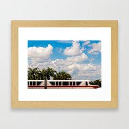 Monorail Red Framed Art Print