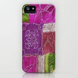 Boho Patchwork Floral iPhone Case