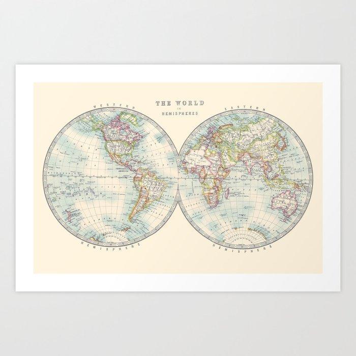 Hemispheres Art Print