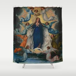 Michel Sittow – the assumption of the virgin Shower Curtain