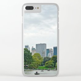 Sunday morning in Central Park NYC Clear iPhone Case