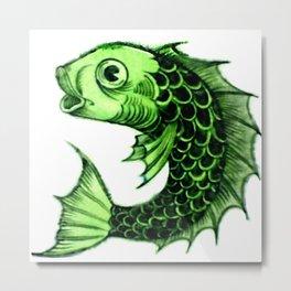 """William De Morgan """"Fantastic Animal - Fish"""" 4. Metal Print"""