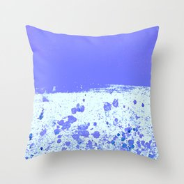 Ink Drop Blue Throw Pillow