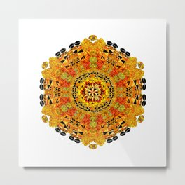 Patterned Sun Metal Print