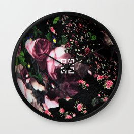 Givenchy all over flower and camo printed nightingale  with detachable shoulder strap and one int Wall Clock