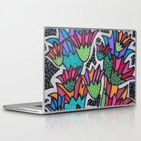 leah flores Laptop & iPad Skins featuring Flores by Carolina Delleteze