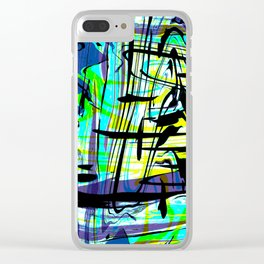 Swimming in a Shark Tank Clear iPhone Case