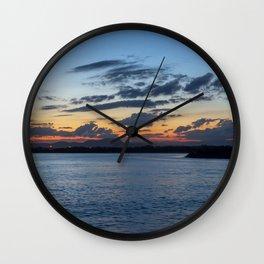 Sunset in Australia Wall Clock