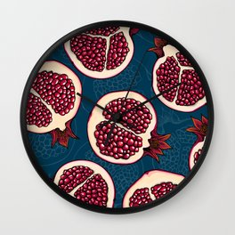 Pomegranate slices Wall Clock