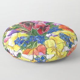 Pansies Floor Pillow
