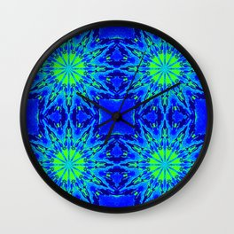 Green & Blue Starburst Series Wall Clock
