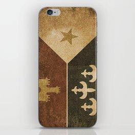 Acadian Flag iPhone Skin