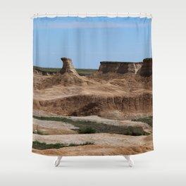 Badlands Rockformation Shower Curtain