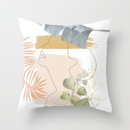 Line in Nature I Throw Pillow