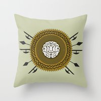 agents of shield Throw Pillows featuring Shield  by Daniac Design