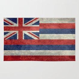 Hawaiian Flag in Vintage Retro Style Rug