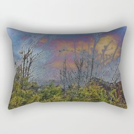 Winters Approach; Spring Stays Imbeded Rectangular Pillow