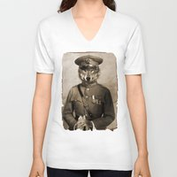 general V-neck T-shirts featuring The general by Seamless