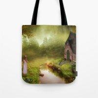 fairy tale Tote Bags featuring Fairy Tale by Susann Mielke
