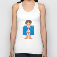 fat Tank Tops featuring Sad Fat by truthbeware