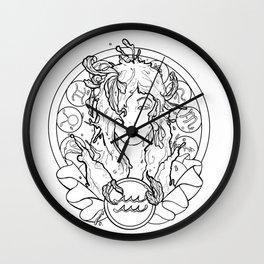 Zodiac Series   Aquarius Wall Clock