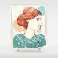 virginia Shower Curtains featuring Dear Virginia... by flaviasorr