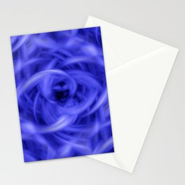 Background Flames Blue Stationery Cards