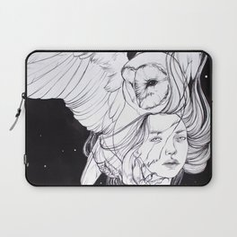 Woman with Owl Familiar Laptop Sleeve