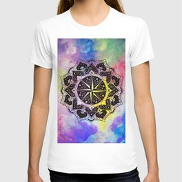"""Rose of the Winds""  WATERCOLOR MANDALA (HAND PAINTED) BY ILSE QUEZADA T-shirt"