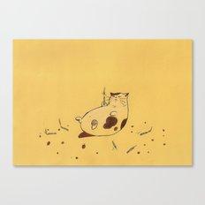 Happy Birthday fat cat '^^) Canvas Print