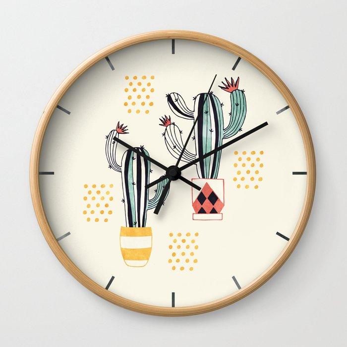 Cactus in a Pot Wall Clock