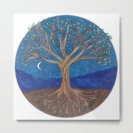 Chakra Tree Metal Print
