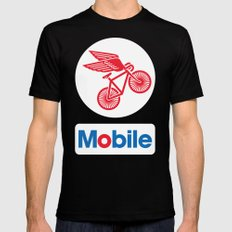 Mobile Black MEDIUM Mens Fitted Tee