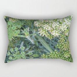 green wild flowers Rectangular Pillow
