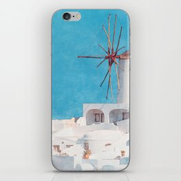Mediterranean journey-Santorini iPhone Skin