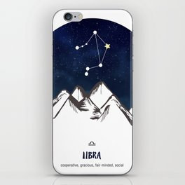 Astrology Libra Zodiac Horoscope Constellation Star Sign Watercolor Poster Wall Art iPhone Skin