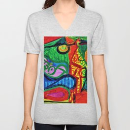 Pablo Picasso - Reclining woman and character - Digital Remastered Edition Unisex V-Neck