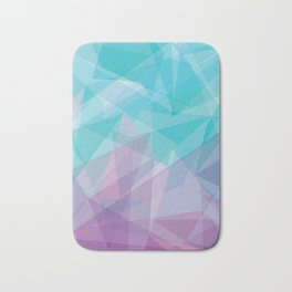 Stained Glass - Blue Purple Bath Mat