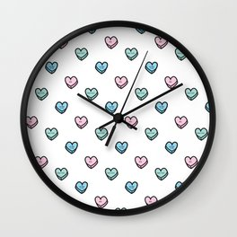 Mean Candy Hearts Wall Clock