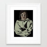 abigail larson Framed Art Prints featuring Abigail by biancahatesyou