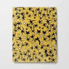 Stars In a Yellow Sky Metal Print